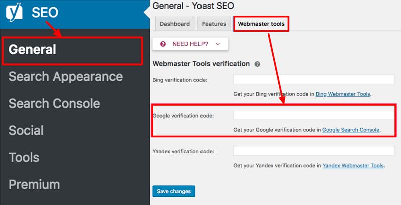 Yoast-webmaster-tool-verificaton