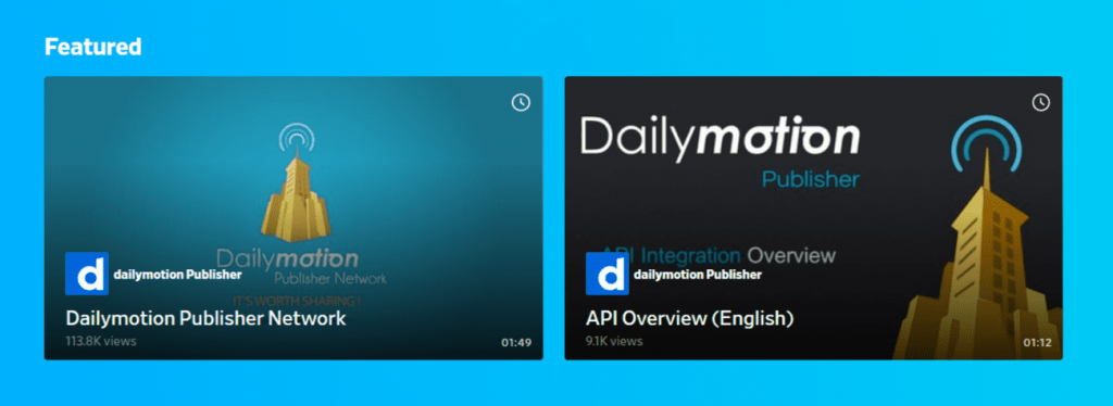 Dailymotion Publisher