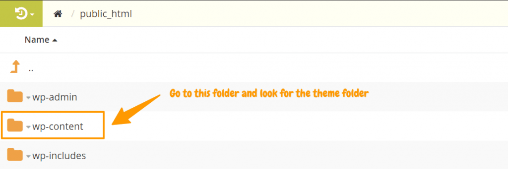 search-for-the-theme-folder