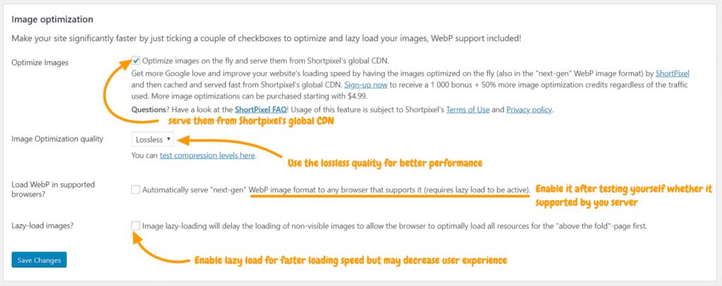 image-optimization-settings