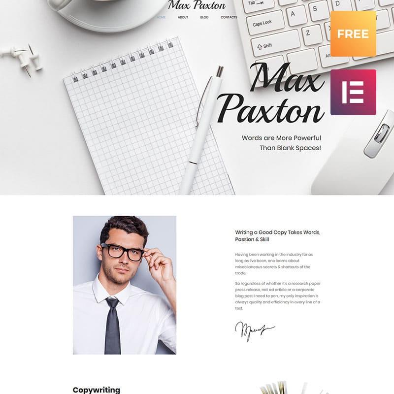 max-paxton-portfolio-theme