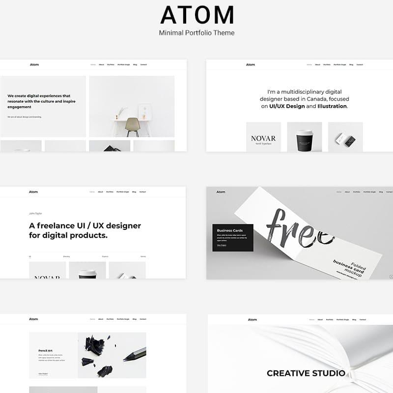Portfolio-atom-theme
