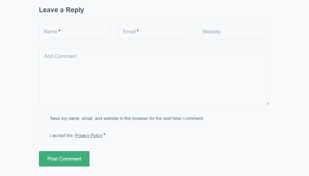 default-comment-system-of-blog