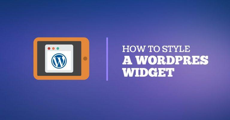 5 Steps Tutorial for WordPress Widget Styling