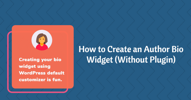 How to Create an Author Bio Widget {Without Plugin}